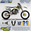 CustomTeam Graphics & Backgrounds Decals 3M Rock Stickers Kit For Husqvarna 2016 2017  FE TE FC TC 250 350 450 500 530