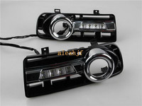 LED Daytime Running Lights DRL With Fog Lamp Cover LED Fog Lamp Case For Volkswagen Golf