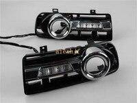 LED Daytime Running Lights DRL With Fog Lamp Cover LED Fog Lamp Case For Volkswagen Golf