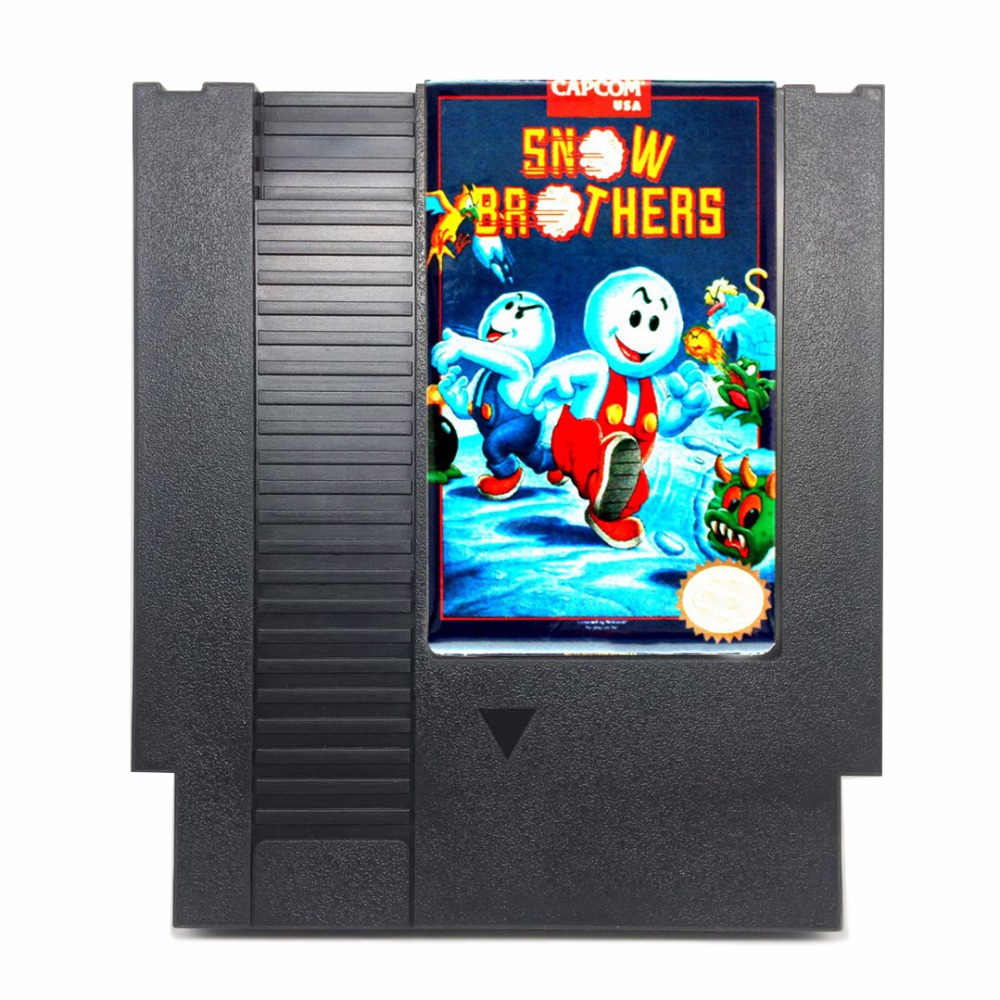 Snow Brothers 72 Pins Game Card For 8 Bit Game Player