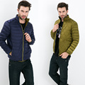 Fall Winter man Duck Down Two Side Wear Jacket Ultra Light Thin Plus Size Winter Jackets Men Fashion Spring Outerwear Coat
