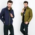 Outono Inverno homem Jaqueta de Pato Para Baixo Dois Lados Desgaste Ultra luz Fina Plus Size Inverno Casacos Men Moda Primavera Outerwear casaco