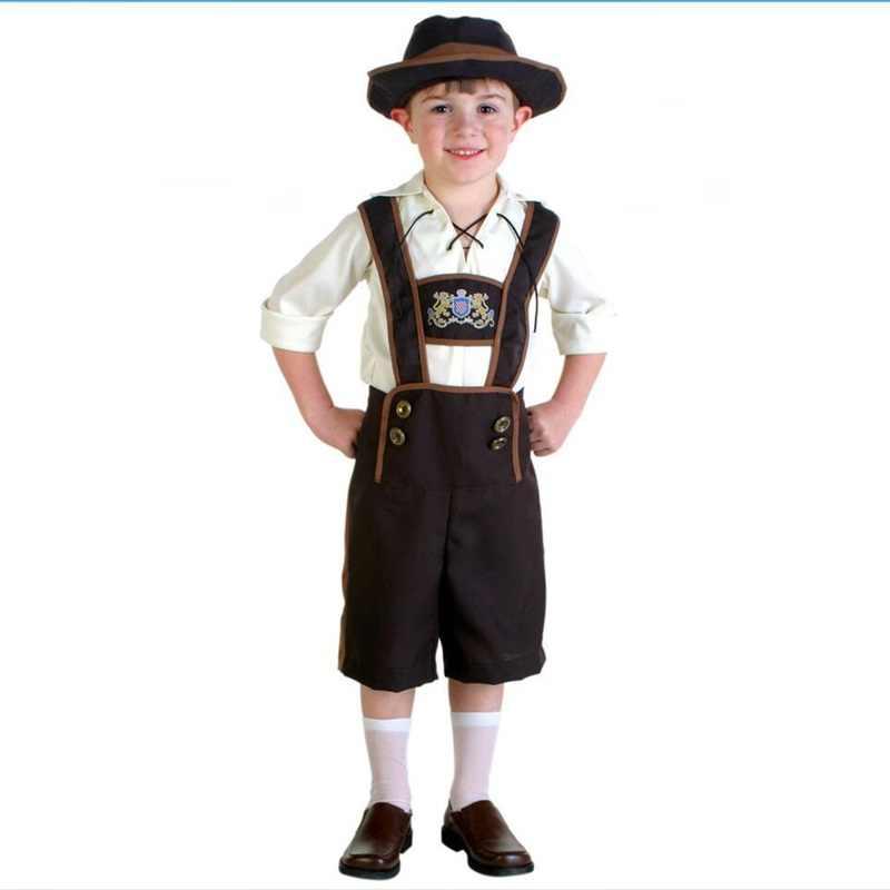 eeaf29ac5 Halloween Costume Festival Children Oktoberfest Boy Clothing The Alps  National Costume Germany Beer Festival Clothes