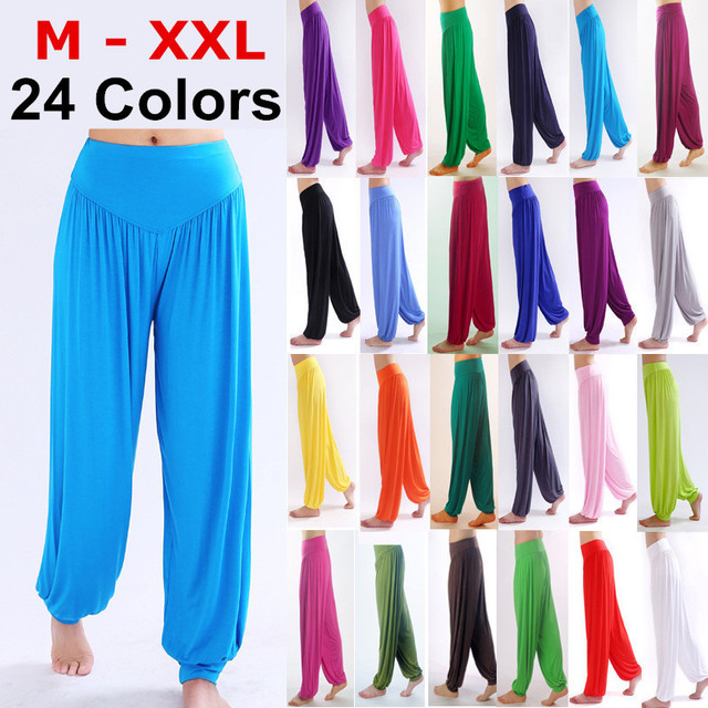 bdbe7ef07b448 Women s PLUS SIZE NEW Cotton Spandex Bella Yoga Pilates Workout Pants Comfy  Loose Home Ware Play Pants Lounge Pants Dance Club