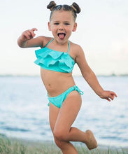 Children swimwear falbala girls swimwear baby kids biquini infantil swimsuit bikini girl New summer bathing suit