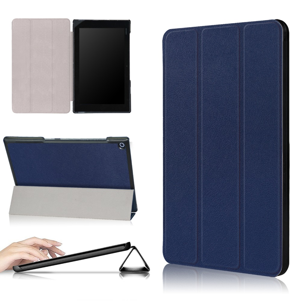 Stand Flip Folio Leather Protective Cover For SONY Xperia Z2 tablet 10.1 inch Case for Sony Xperia Z2 tablet Case universal crazy horse leather stand cover for ipad air sony xperia tablet z 10 inch tablet pc black