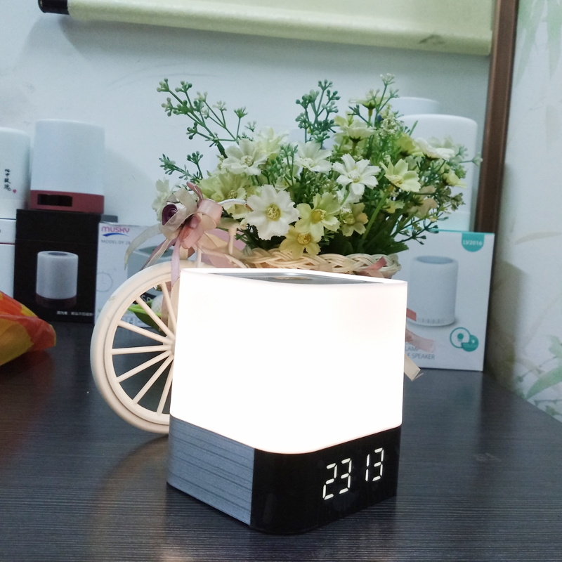 LED Night Light Rechargeable Night Lamp Bedroom Light Luminous Digital Alarm Clock with Time женские часы casio she 3034gl 7a
