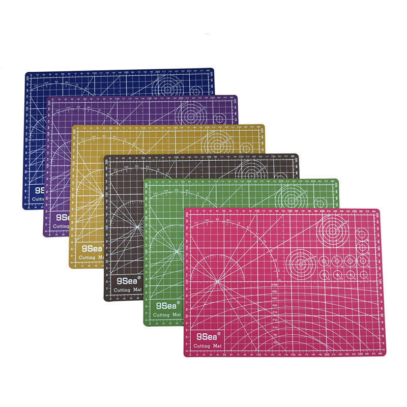 A4 Double Sided Colorful Cutting Mat Fabric Cutting Mat High Quality white core Cutting Board 22cm*30cm; Color Random us art supply® brand premium high quality 5x7 white picture mat matte sets includes a pack of 25 white core bevel cut mattes for 4x6 photos pack of 25 white core backers