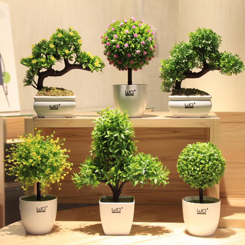 Merveilleux Grass Ball Small Bonsai Creative Green Velvet Potted Artificial Plant  Flowers Gardening Decoration Office Decorate Home Decor In Artificial U0026  Dried Flowers ...