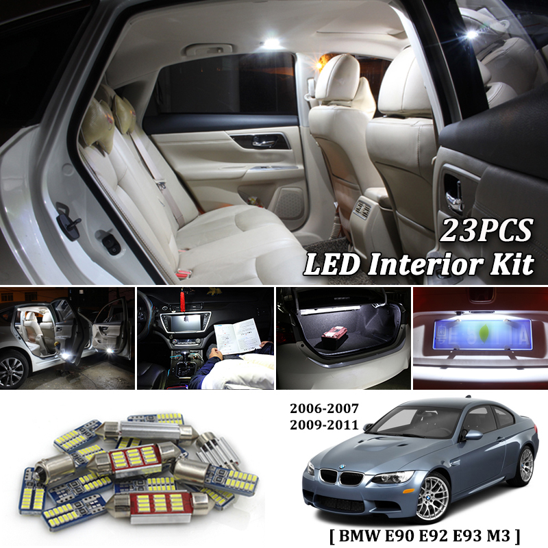 23Pcs White Canbus led Car interior lights Package Kit for BMW E90 E92 E93 M3 2006 2007 2009 2010 2011 led interior lights23Pcs White Canbus led Car interior lights Package Kit for BMW E90 E92 E93 M3 2006 2007 2009 2010 2011 led interior lights