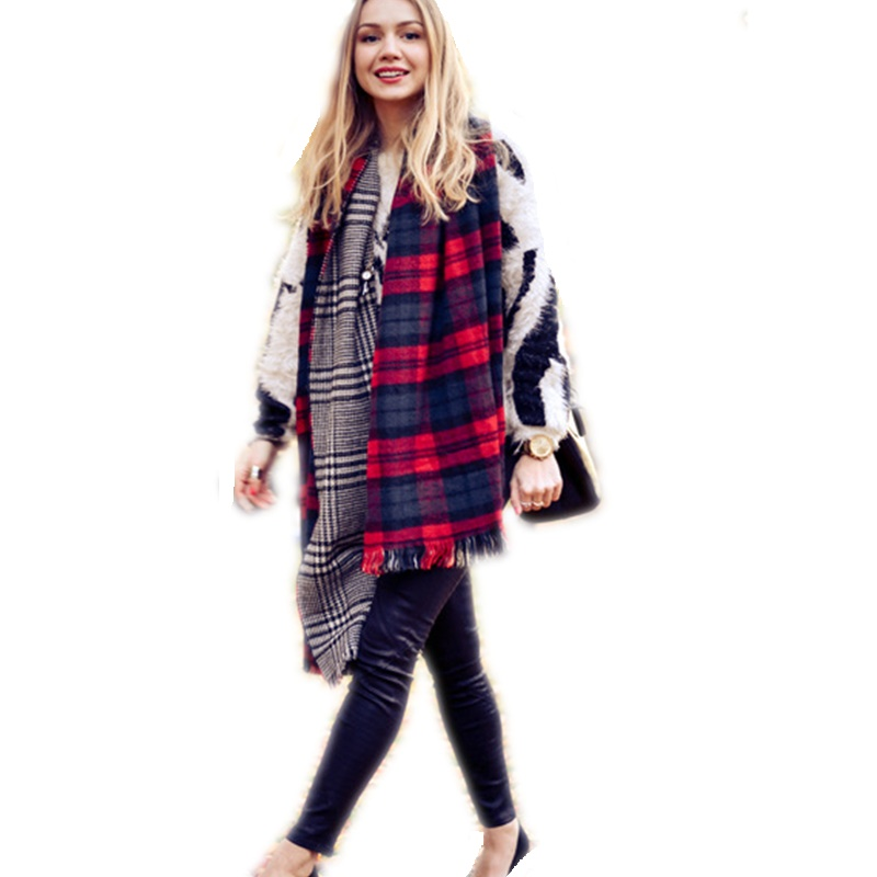 المرأة الدافئة المتضخم فحص بطانية - ملابس واكسسوارات