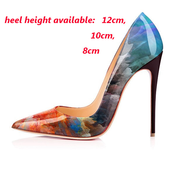 6be7a3d4e3f9 Sexy Super Waves Edge Shoes Black Hot Pink Grey Woman Thin High Heels Pumps  Fetish Shoes Women Pointy Toe Party Stiletto Shoes USD 50.47-77.83 pair