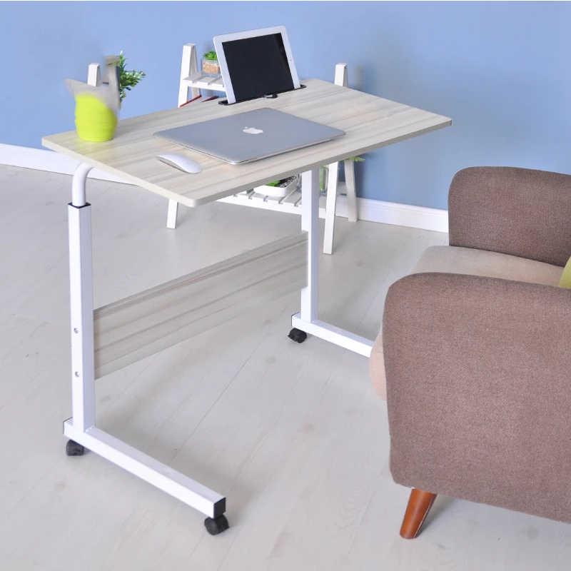 2018 mesa de ordenador plegable ajustable portátil Escritorio de ordenador portátil 80*40CM rotar mesa de cama de ordenador portátil se puede levantar de pie escritorio