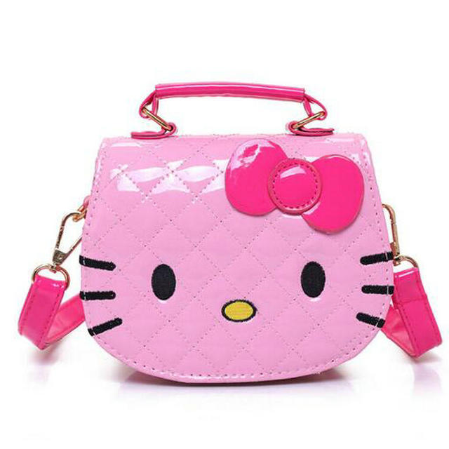 0ff0e199b5fa Character Shoulder Bags Cartoon Hello Kitty Shoulder Bag Large Handbags for  Girls Women Cat Shape Pink Lady Baby Kids Waterproof