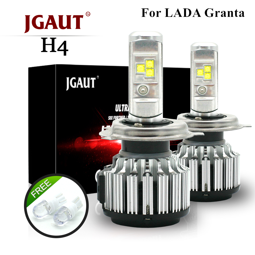 JGAUT For LADA Granta Car Led headlight liftback H4 Hi Low High Beam Led Auto bulbs H11 fog light LED Car light white 12v 6000k 1 pair dc 9 36v h4 cob 80w led car headlight kit hi lo beam bulbs 6000k