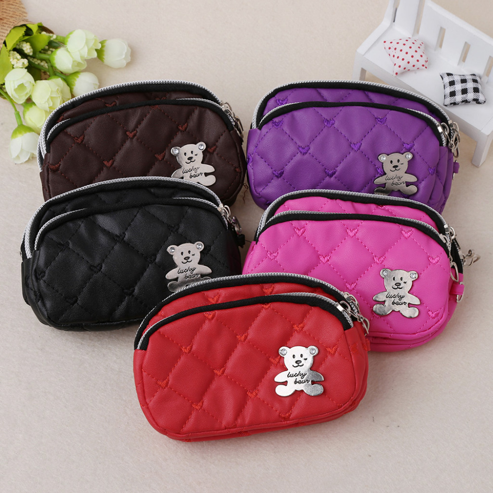THINKTHENDO New Fashion Women Zipper Wallet Clutch Card Holder Coin Purse Small Change Ladies 13x4x9cm 5 Color