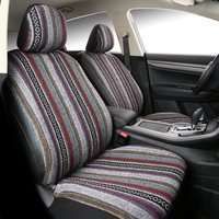 Car Seat Covers Flax National style Front Rear Seat Full Cover Interior Accessories Universal for Lada grand kia vaz fiat palio