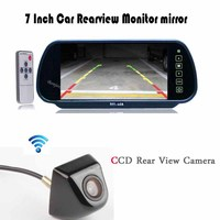Auto TV Car Rear View Mirror With TFT LCD Monitor 800 480 Screen Video 12V CCD