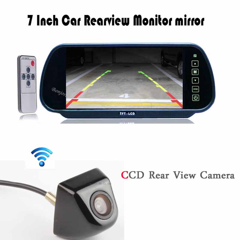 Auto TV Car Rear view mirror with TFT LCD Monitor 800*480 Screen Video 12V CCD Car Rear View Camera Car detector Metal detector sinairyu hd mirror monitor 800 480 high resolution tft lcd rear view mirror screen display for backup camera two video inputs