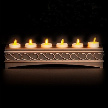 Ksperway  LED Moving Wick Flameless Rechargeable Tea Candles with Timer/Remote/Charger Holder Ivory-Set of 6