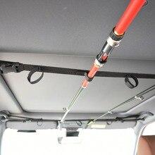 Pêche VRC véhicule canne transporteur canne à pêche support ceinture sangle avec cravate bretelles envelopper pêche accessoires USA expédition