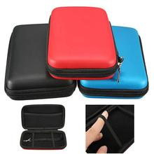 3 cores eva dura carry caso capa para nova legal 3ds xl ll pele manga saco bolsa(China)