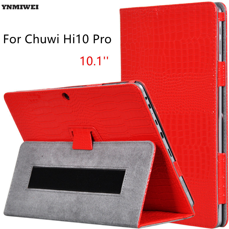 Flip Case For Chuwi Hi10 Pro Luxury Alligator Pattern PU Leather Cover Cases For Chuwi Hi 10 Pro 10.1 Tablet Stand Protector ultra thin smart flip pu leather cover for lenovo tab 2 a10 30 70f x30f x30m 10 1 tablet case screen protector stylus pen