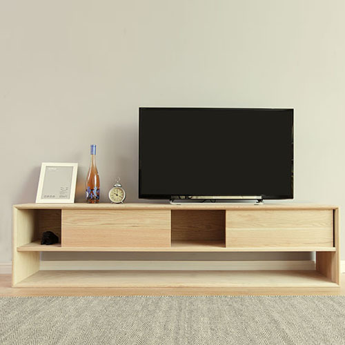 Oak Tv Cabinet Modern Minimalist Wood Cabinets With Doors Locker