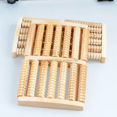 New wooden feet roller Wood Foot Care Massage Reflexology Relax Stress Relieve b12 foot 5 row wooden roll foot massager wooden roller stress relief body massage feet relax spa wood massager for foot care