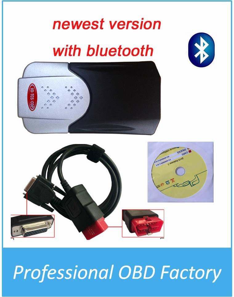 Цена за 2016 Горячие продажа В. Д. TCS CDP PRO Новый VCI 2015 R3 версия Для Автомобилей/Грузовики/Generic С Bluetooth