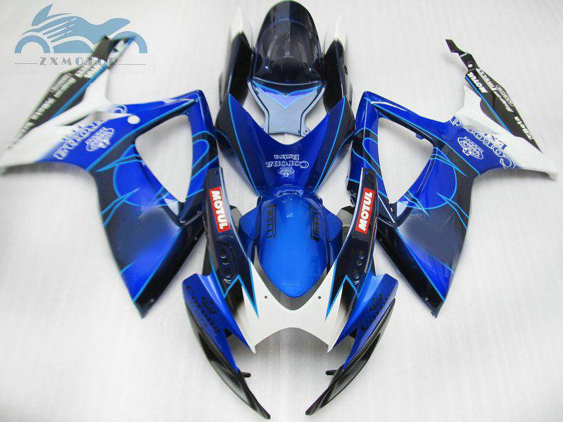 Custom Injection <font><b>Fairing</b></font> kits for Suzuki <font><b>GSXR</b></font> <font><b>600</b></font> 06 07 K6 GSXR600 750 aftermarket ABS <font><b>fairings</b></font> GSXR750 <font><b>2006</b></font> 2007 corona bodykit image
