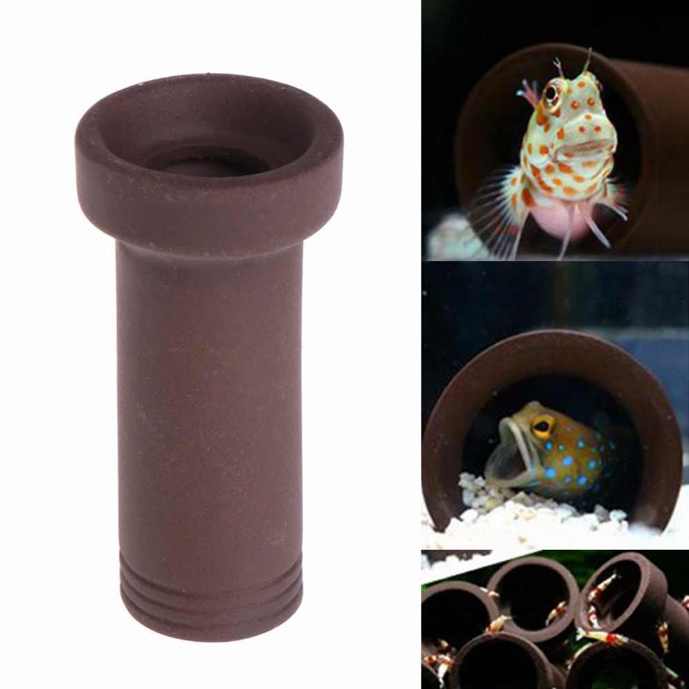 Aquarium Fish Tank Tube Breeding Hiding Cave Shelter For Fish Shrimp Spawn  Live Plant Fish Tank Decoration C42