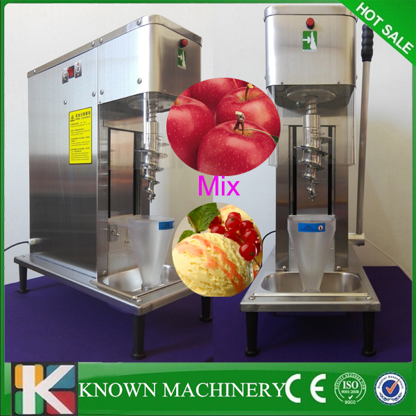 Fashionable commercial operating stainless steel chocolate soft nut ice cream fruit blender mixer machine