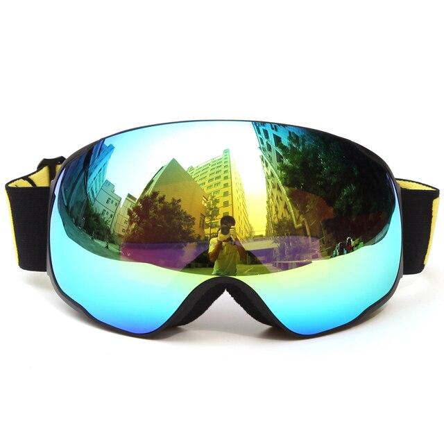 Visão ampla UV400 Profissionais Óculos Anti-fog de Esqui Óculos De Proteção  Óculos De Esqui 727d9ea8b1