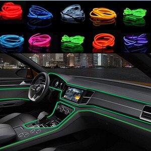 Car Interior LED EL Wire Rope Tube Line strip For honda civic crv accord accord fit jazz peugeot 307 207 308 408 3008 508 2008(China)
