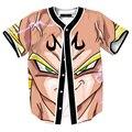 2016 t-shirt Dos Homens Das Mulheres t camisa dos desenhos animados do anime dragon ball z moda v-pescoço dos homens 3d impressão Cardigan t shirt dos ganhos camisetas hombre