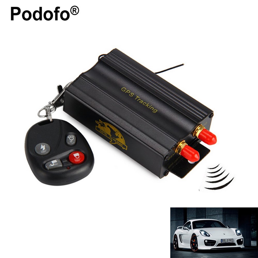 Podofo TK103B Car GPS Tracker System GPS GSM GPRS Vehicle Tracker Locator Remote Control SD SIM Card Anti-theft tracking system