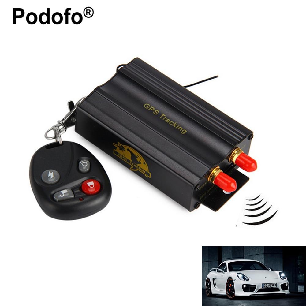 Podofo TK103B автомобиля GPS трекер Системы GPS GSM GPRS трекер локатор Дистанционное управление SD sim-карты Anti-Theft отслеживания системы