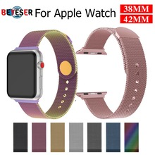 Milanese Loop Bracelet Stainless Steel band For Apple Watch series 1/2/3 42mm 38mm Bracelet strap for  watch series 4 40mm 44mm