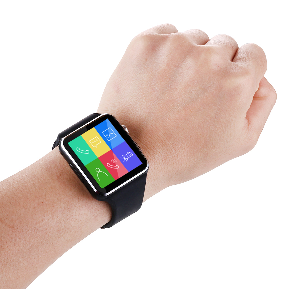 teamyo x6 смарт-смотреть андроид smartwatch hd изогнутый дисплей синхронизации facebook whatsapp сообщения действия sim tf смарт wacht