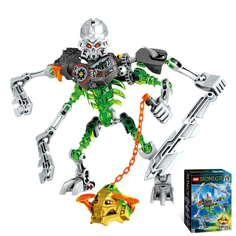 Skull Blade Warrior Biochemical Warrior Action Figure Building Blocks Toys For Children