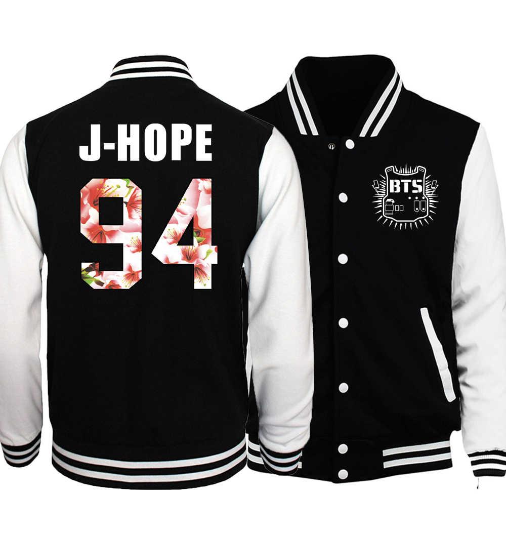 2017 Весна Новый горячий Bangtan мальчики Kpop мужская куртка Jin 92 Jimin 95 бейсбольная форма мужские куртки спортивная толстовка брендовая одежда