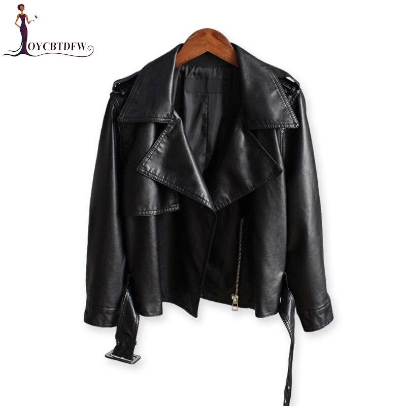 Été PU cuir veste femme courte 2018 automne nouvelle mode coréenne sauvage chauve-souris manches décontracté veste de moto en cuir synthétique polyuréthane XY140