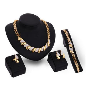 Jewelry-Sets Bracelet-Ring Wedding-Accessories Gold Women African New Trendy