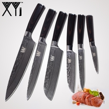 hot deal buy xyj kitchen knives new arrival 2018 paring utility santoku chef slicing bread stainless steel knives kitchen tools accessories