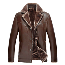 Mens Leather Jackets Winter Warm Coat High Quality Classic Motorcycle Bike Cowboy PU Male Plus Velvet Thick Coats LK1805
