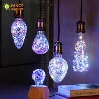 Led-lampe A60/Erdbeere E27 RGB Dekorative led string licht lampe für Geschenk home/wohnzimmer/schlafzimmer decor 85-265V bombillas led