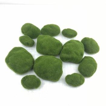artificial moss ball garden decor fake Plants home decor fake greenery DIY Simulation green stone Botany Wall Background