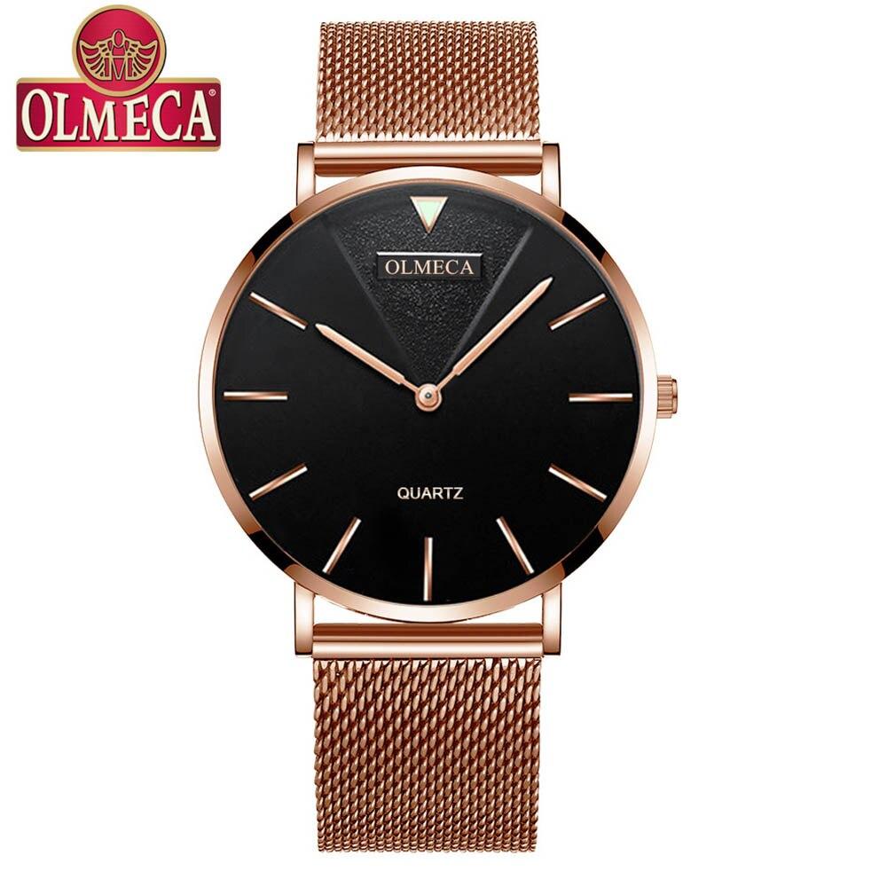 Fashion Ultra Thin Quartz Ladies Wrist Watches Luxury Brand Rose Gold Women Minimalist Watches Steel Mesh Waterproof Girls Clock