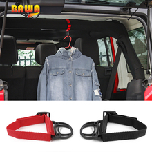 BAWA Coat Hook for Jeep Wrangler TJ JK JL ABS+Cloth Hallstand  Car Accessories